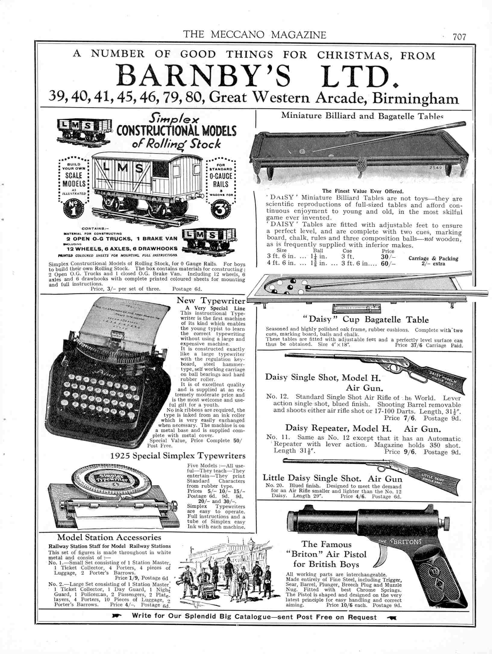UK Meccano Magazine December 1925 Page 707
