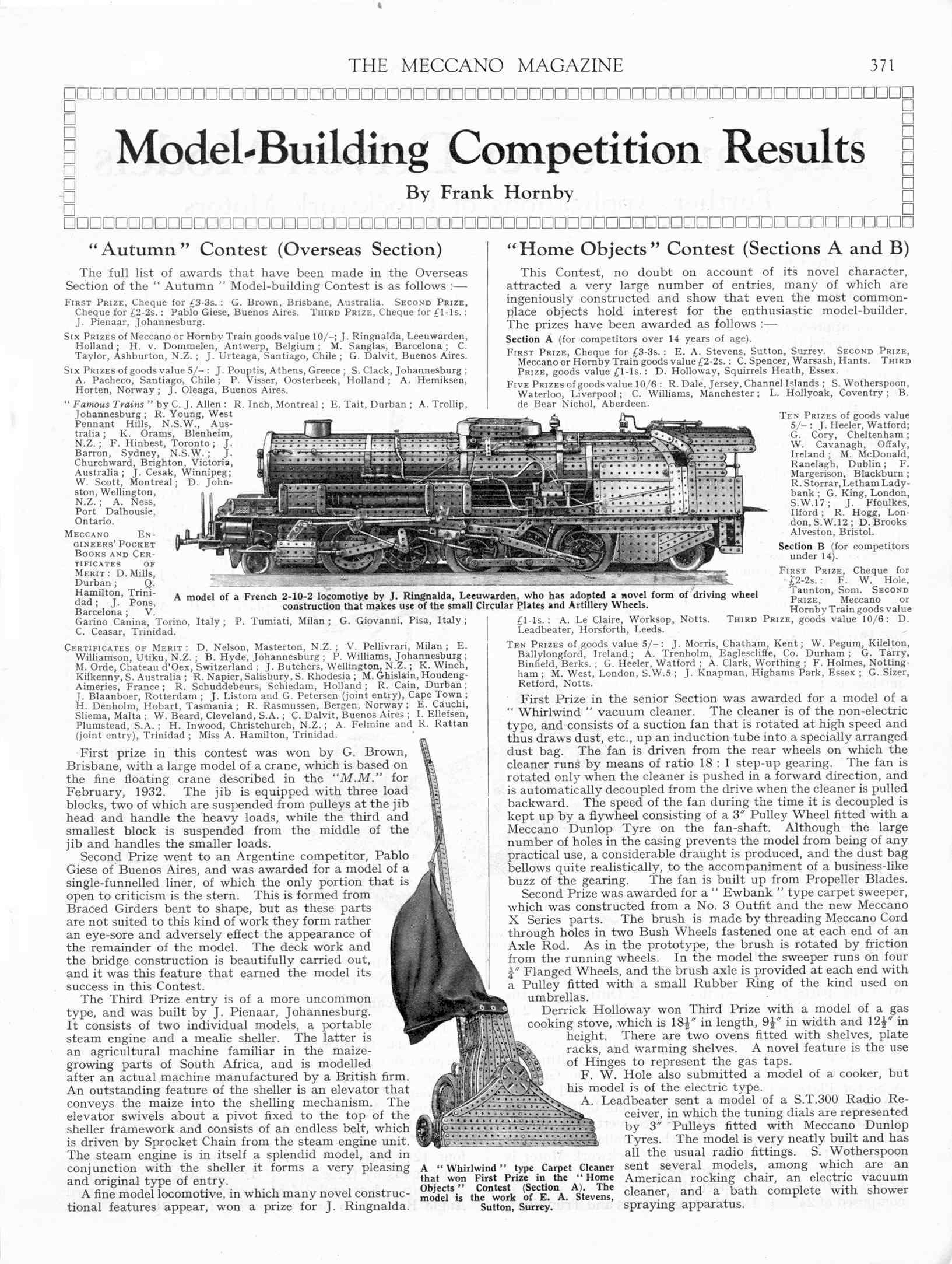 UK Meccano Magazine May 1933 Page 371