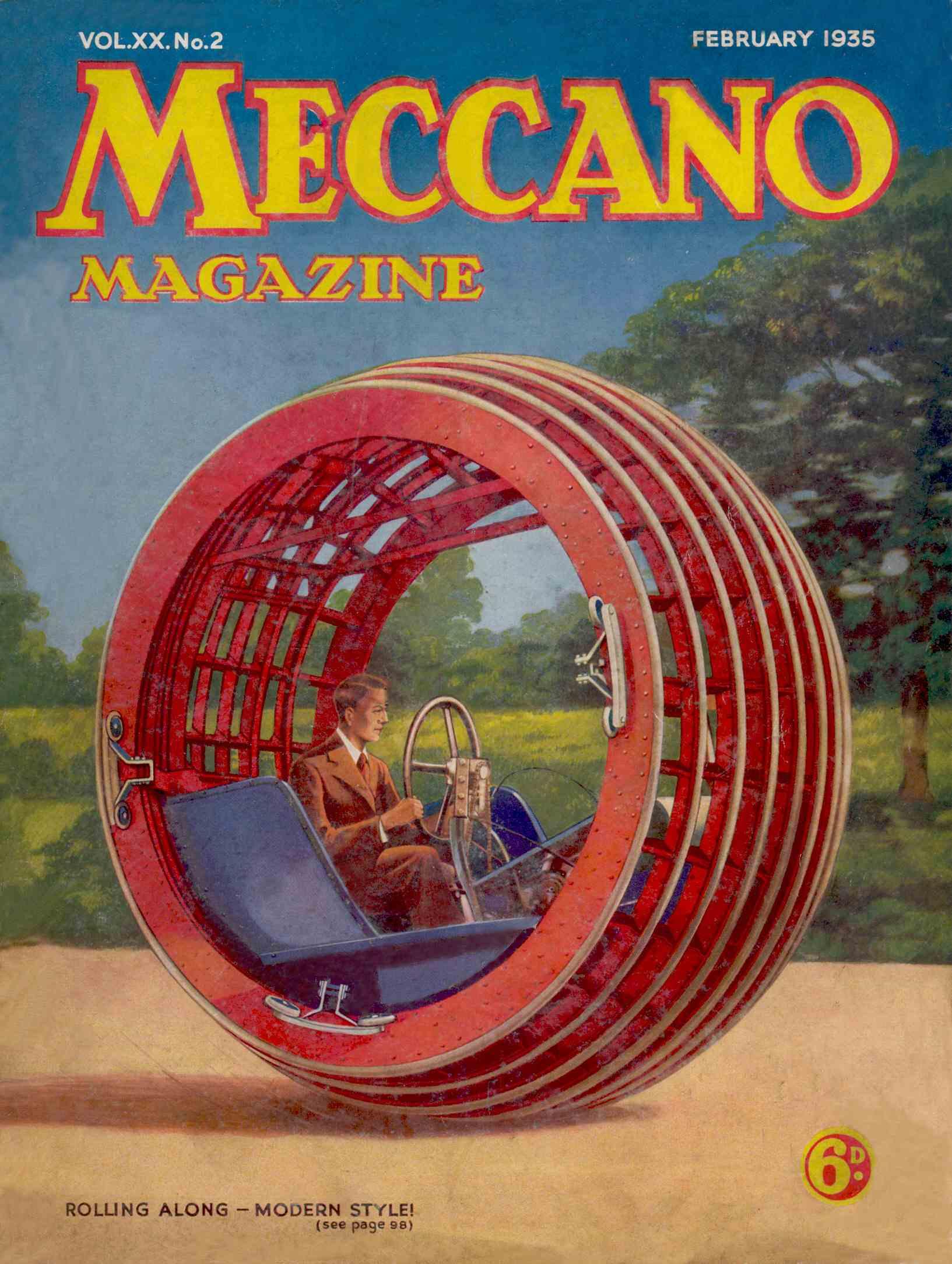 UK Meccano Magazine February 1935 Front cover