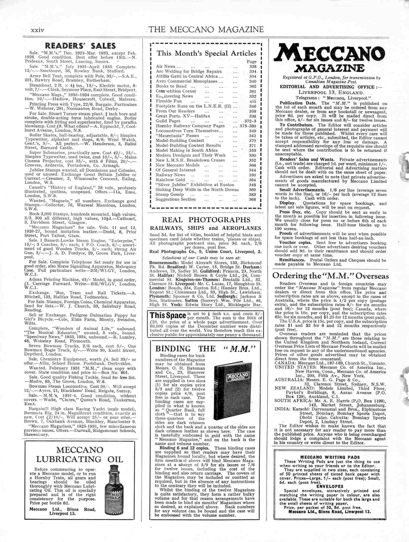 UK Meccano Magazine June 1935 Page xxiv