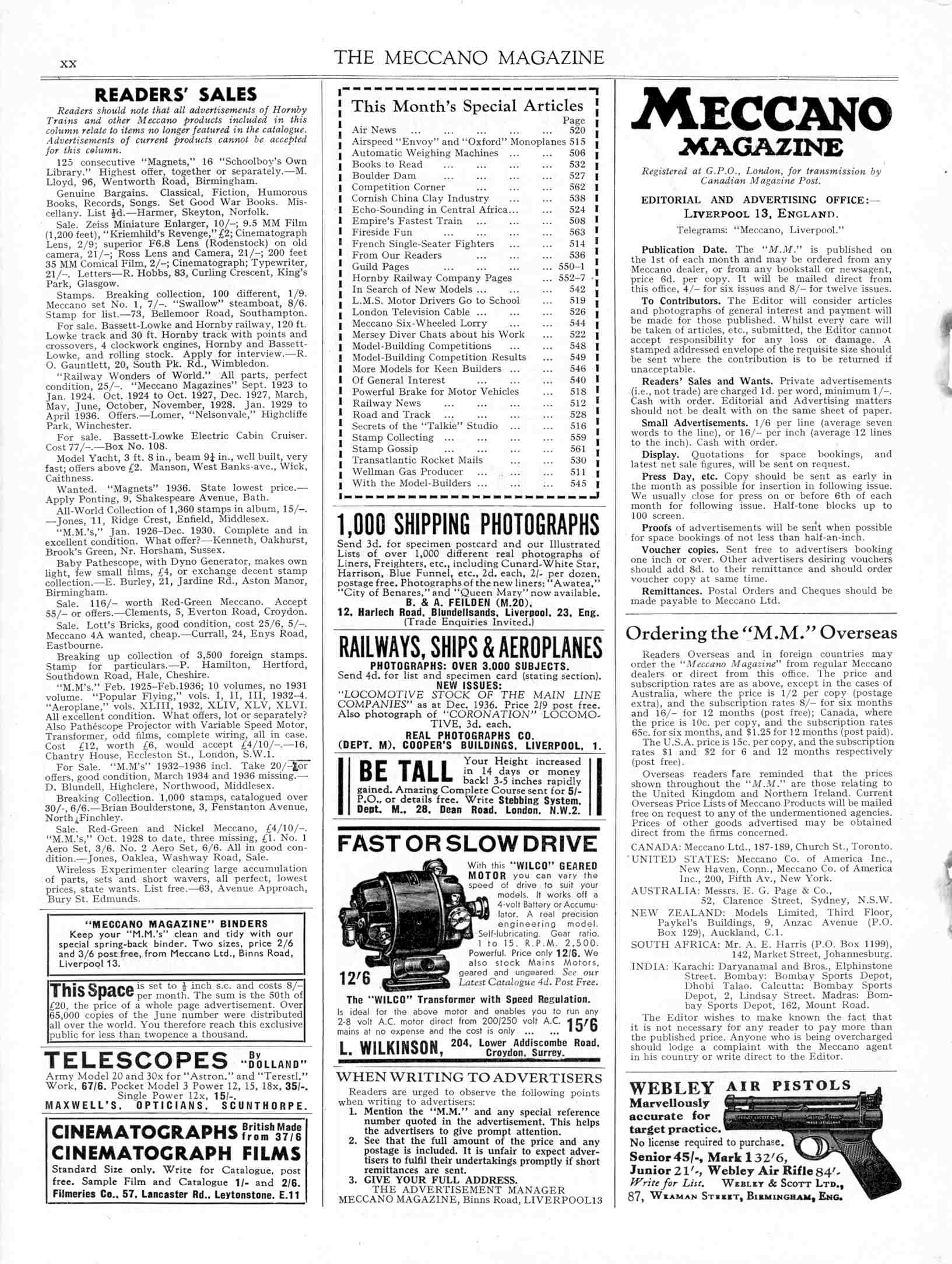 UK Meccano Magazine September 1937 Page xx