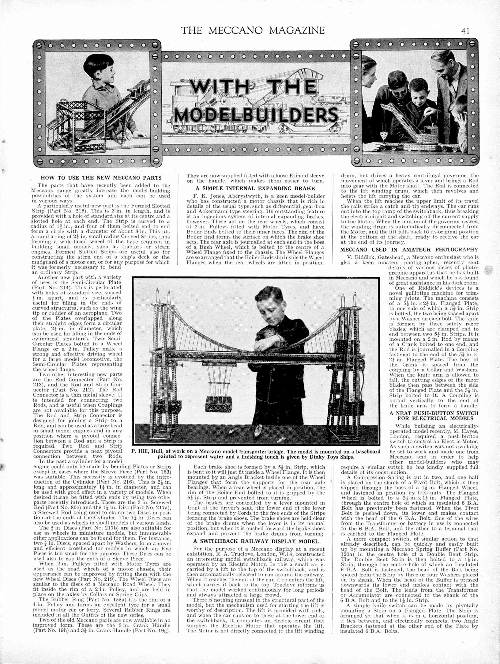 UK Meccano Magazine January 1938 Page 41