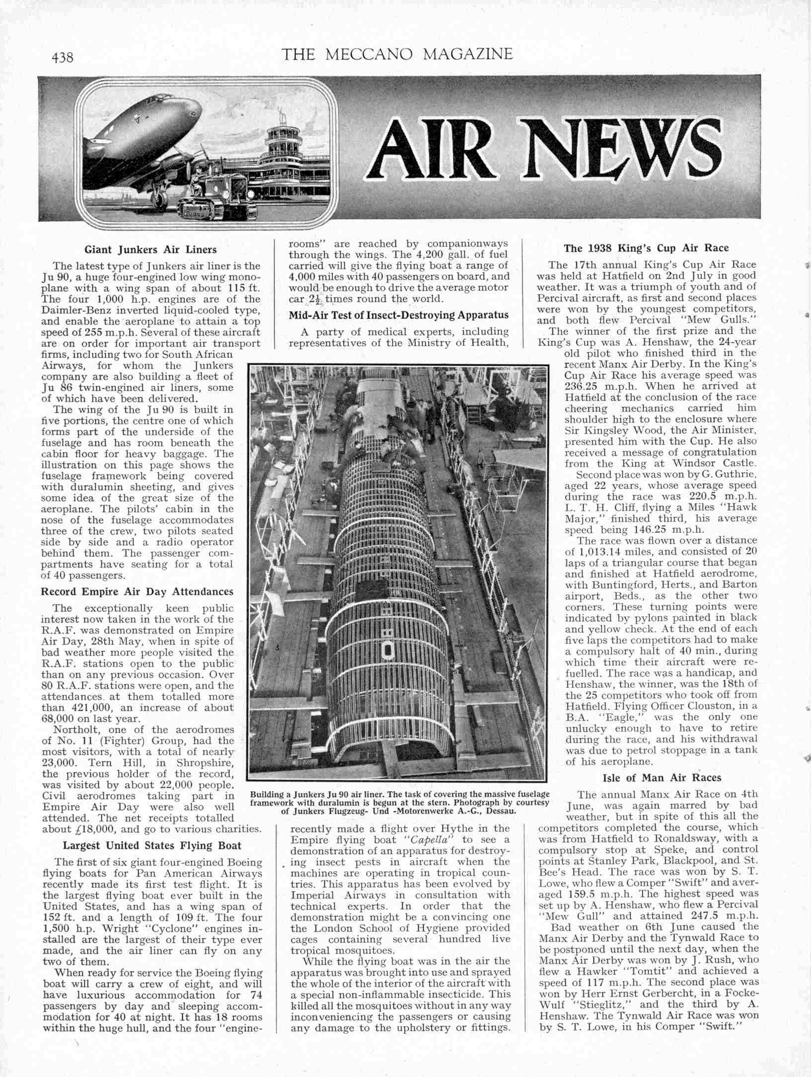 UK Meccano Magazine August 1938 Page 438