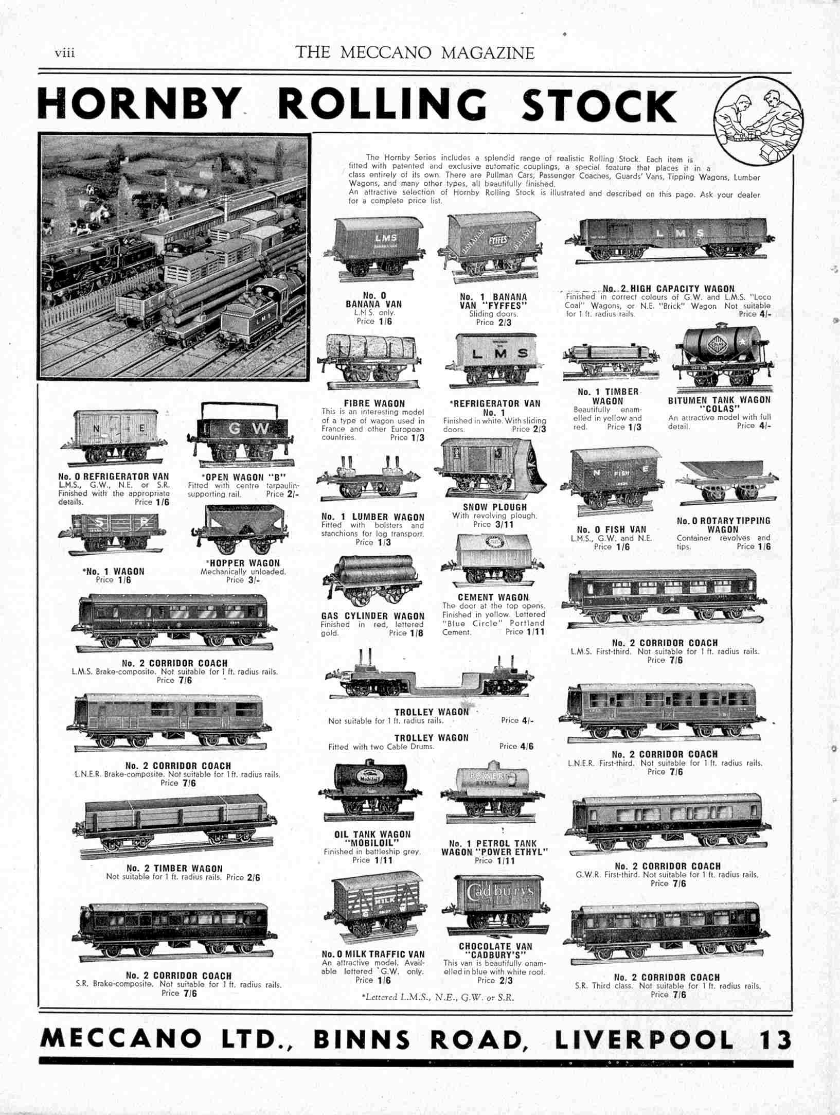 UK Meccano Magazine September 1938 Page viii