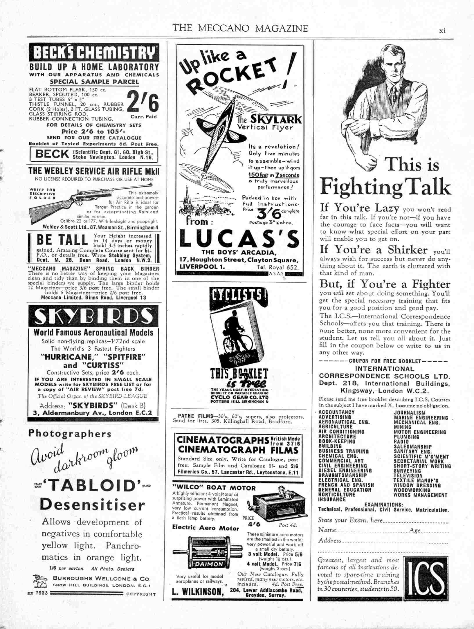 UK Meccano Magazine September 1938 Page xi