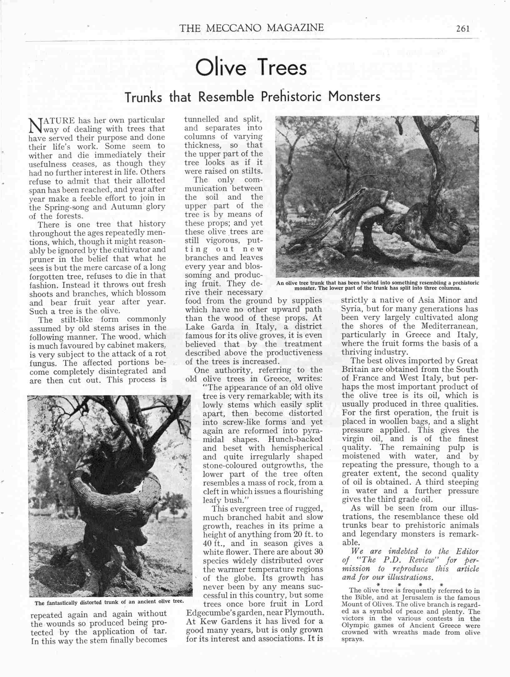 UK Meccano Magazine May 1940 Page 261