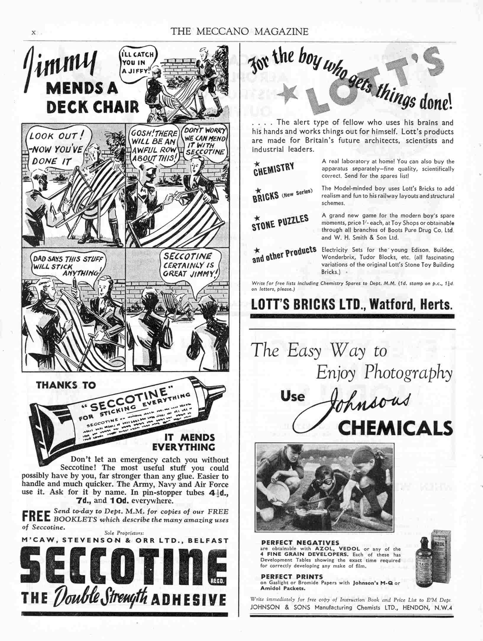 UK Meccano Magazine May 1940 Page x