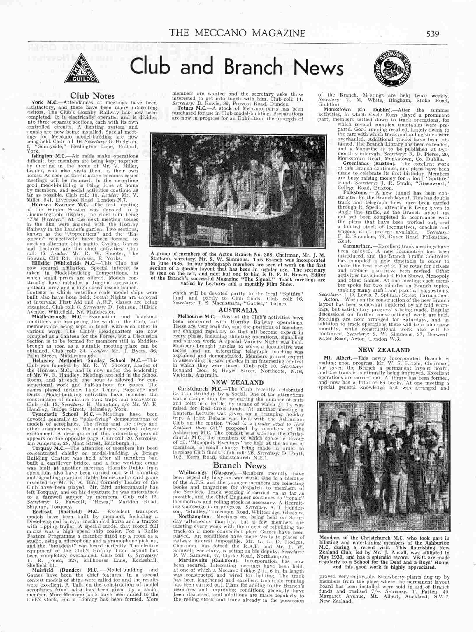 UK Meccano Magazine December 1940 Page 539