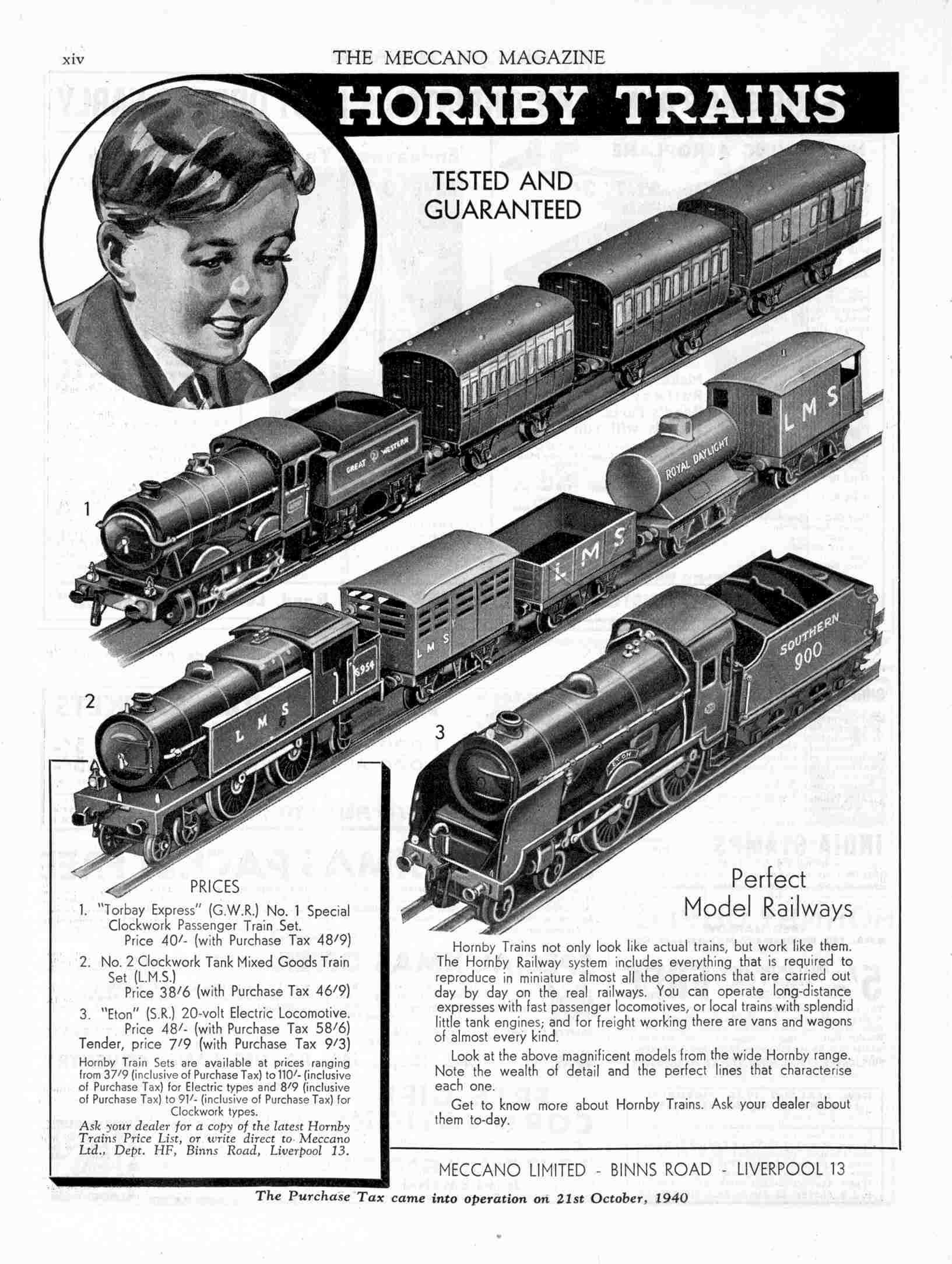 UK Meccano Magazine December 1940 Page xiv