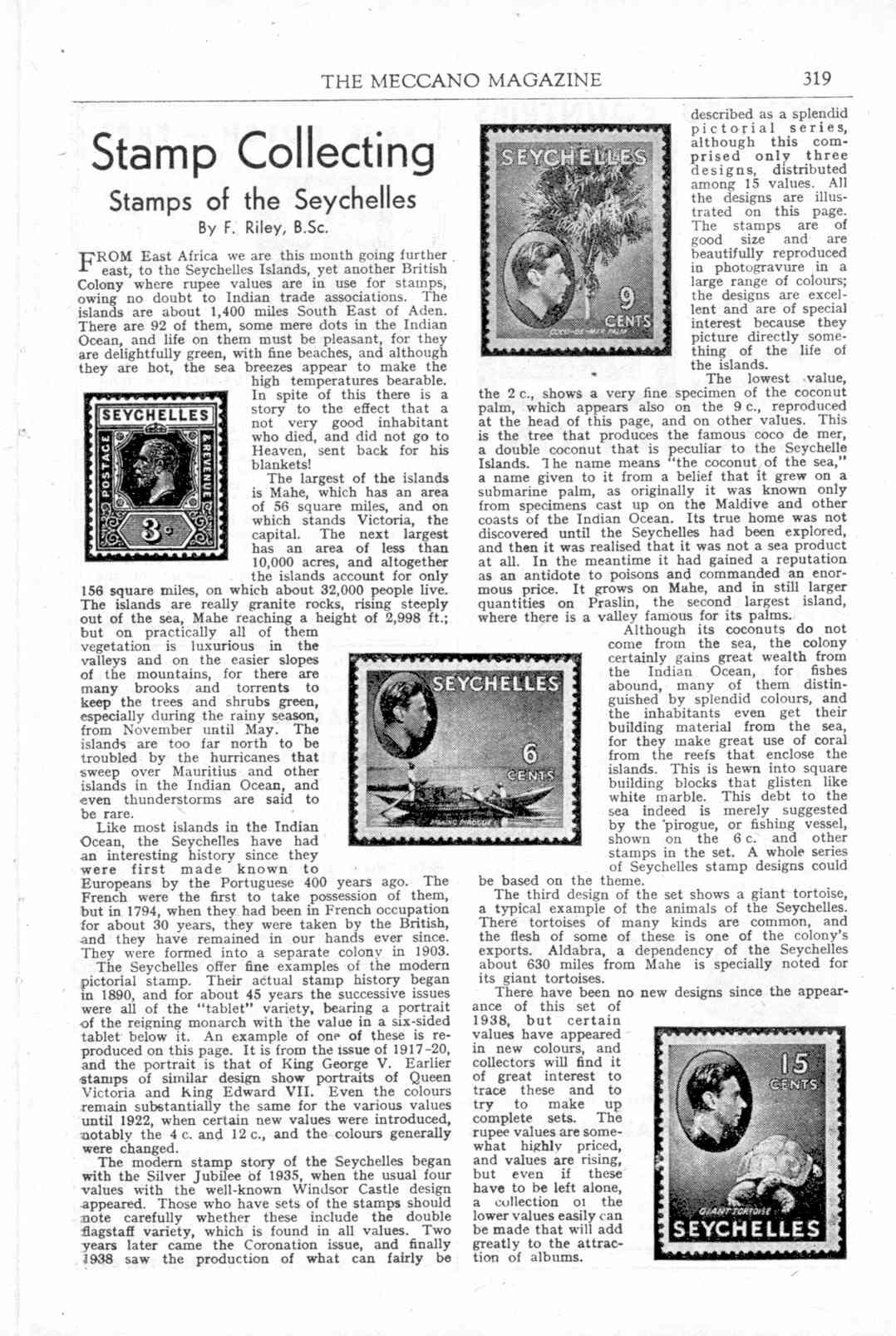 UK Meccano Magazine September 1944 Page 319