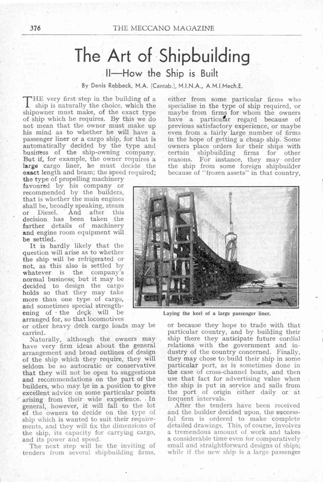 UK Meccano Magazine November 1944 Page 376