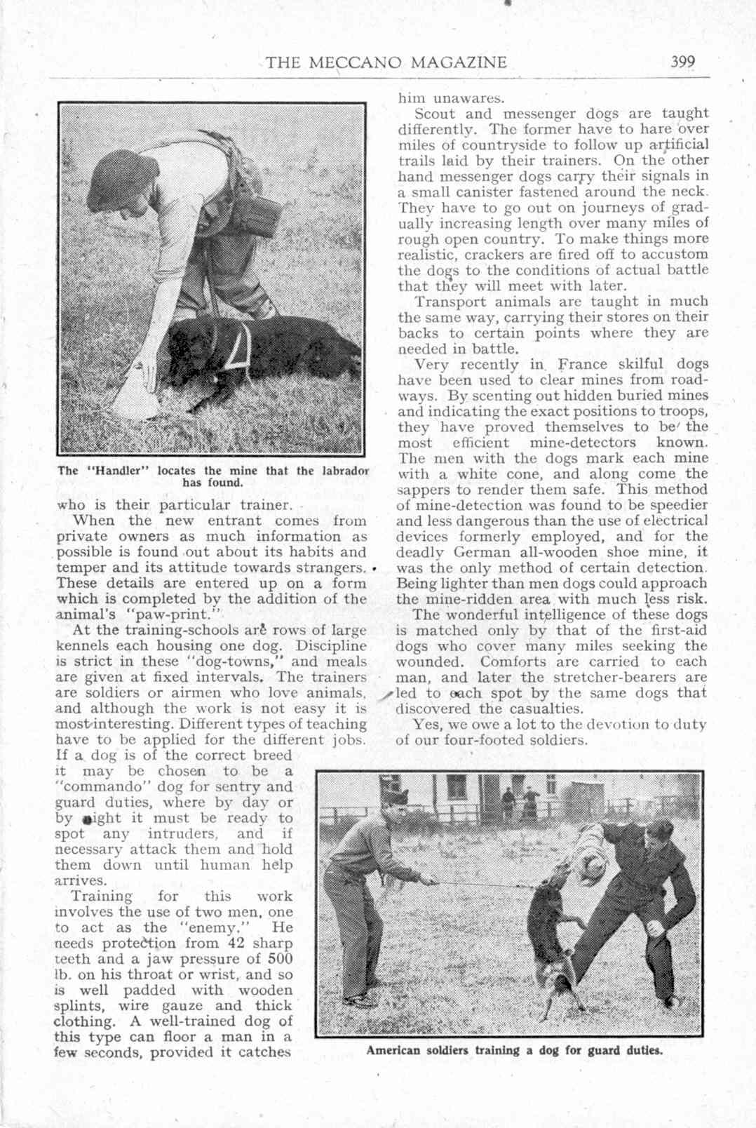 UK Meccano Magazine December 1944 Page 399