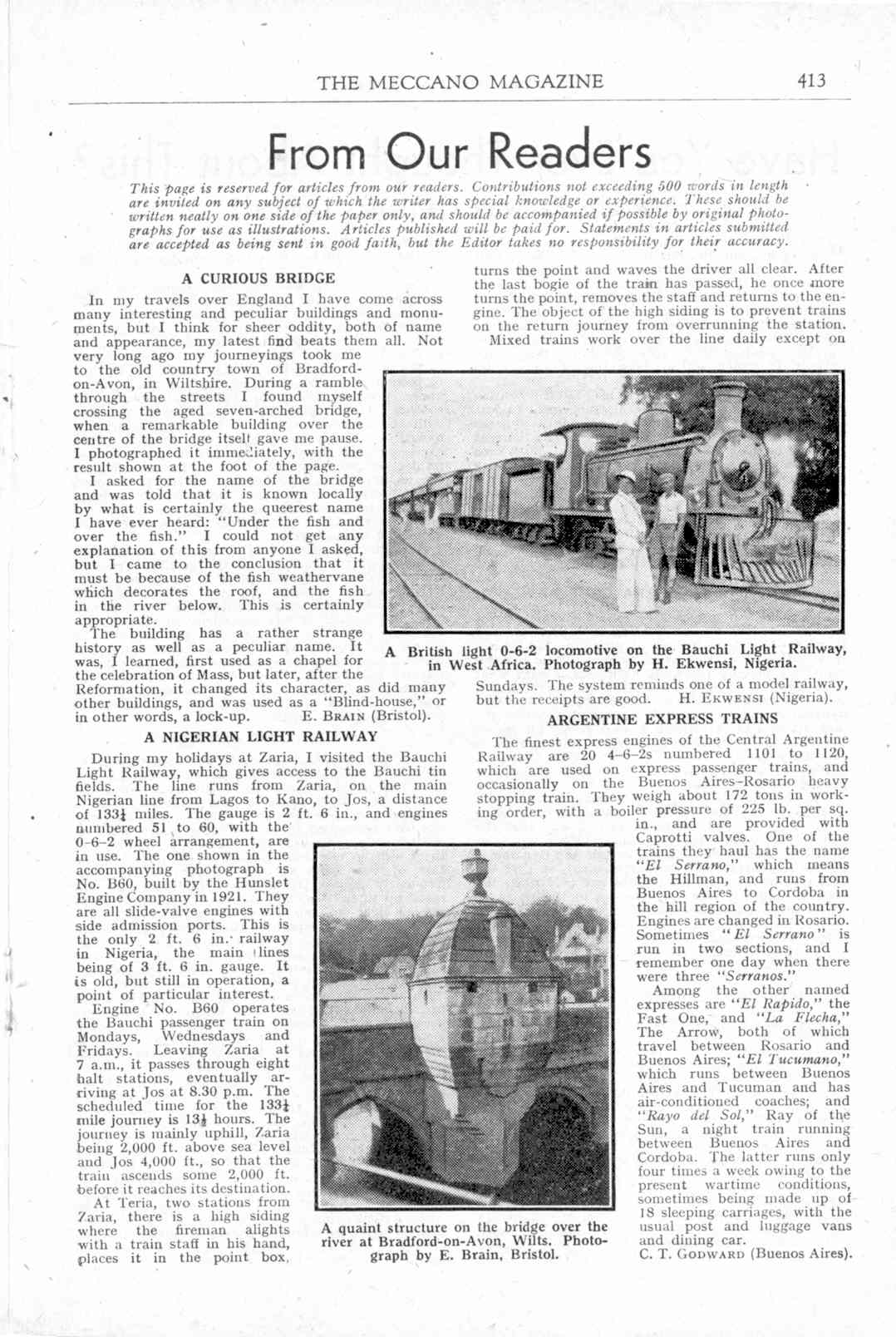 UK Meccano Magazine December 1944 Page 413