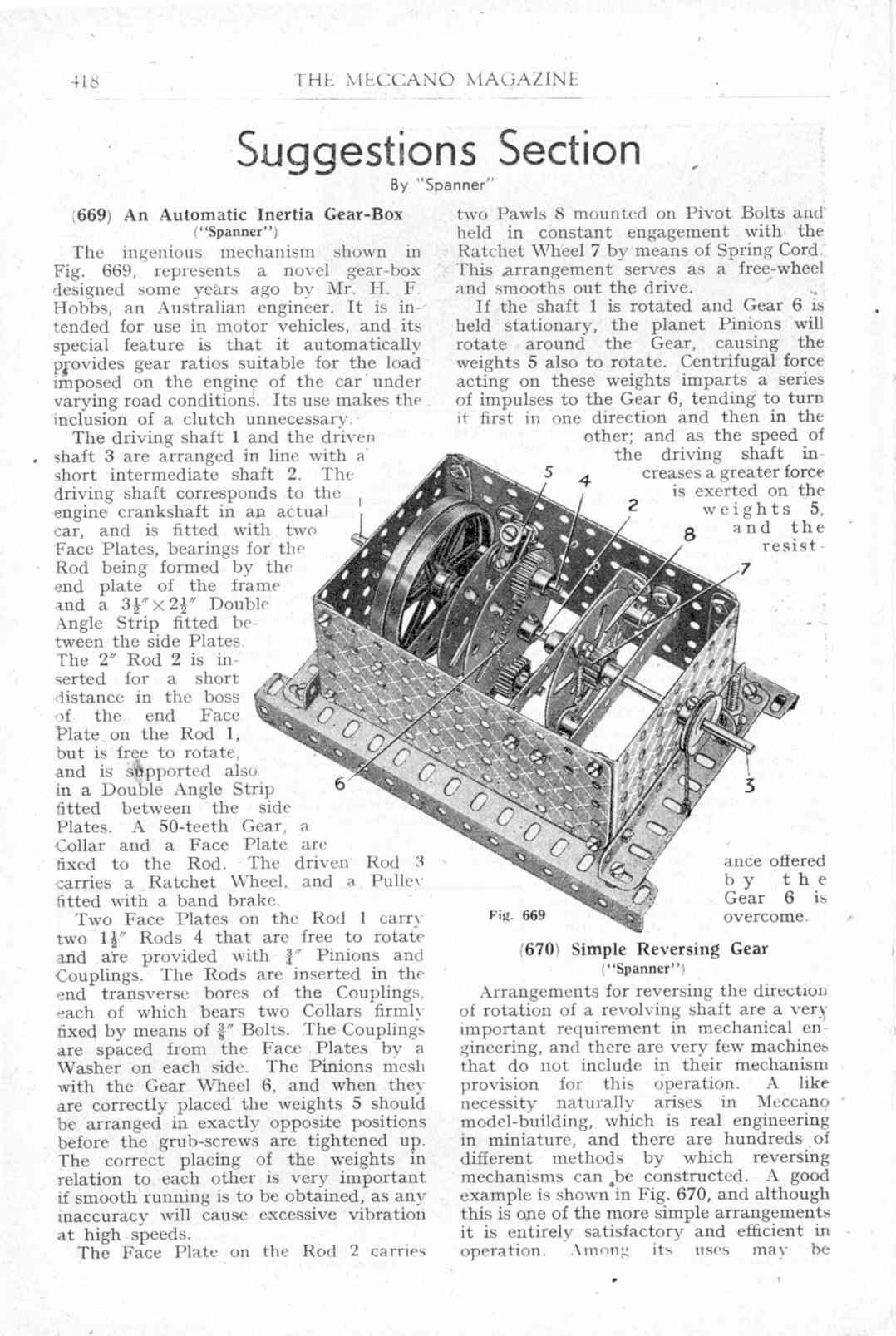 UK Meccano Magazine December 1944 Page 418