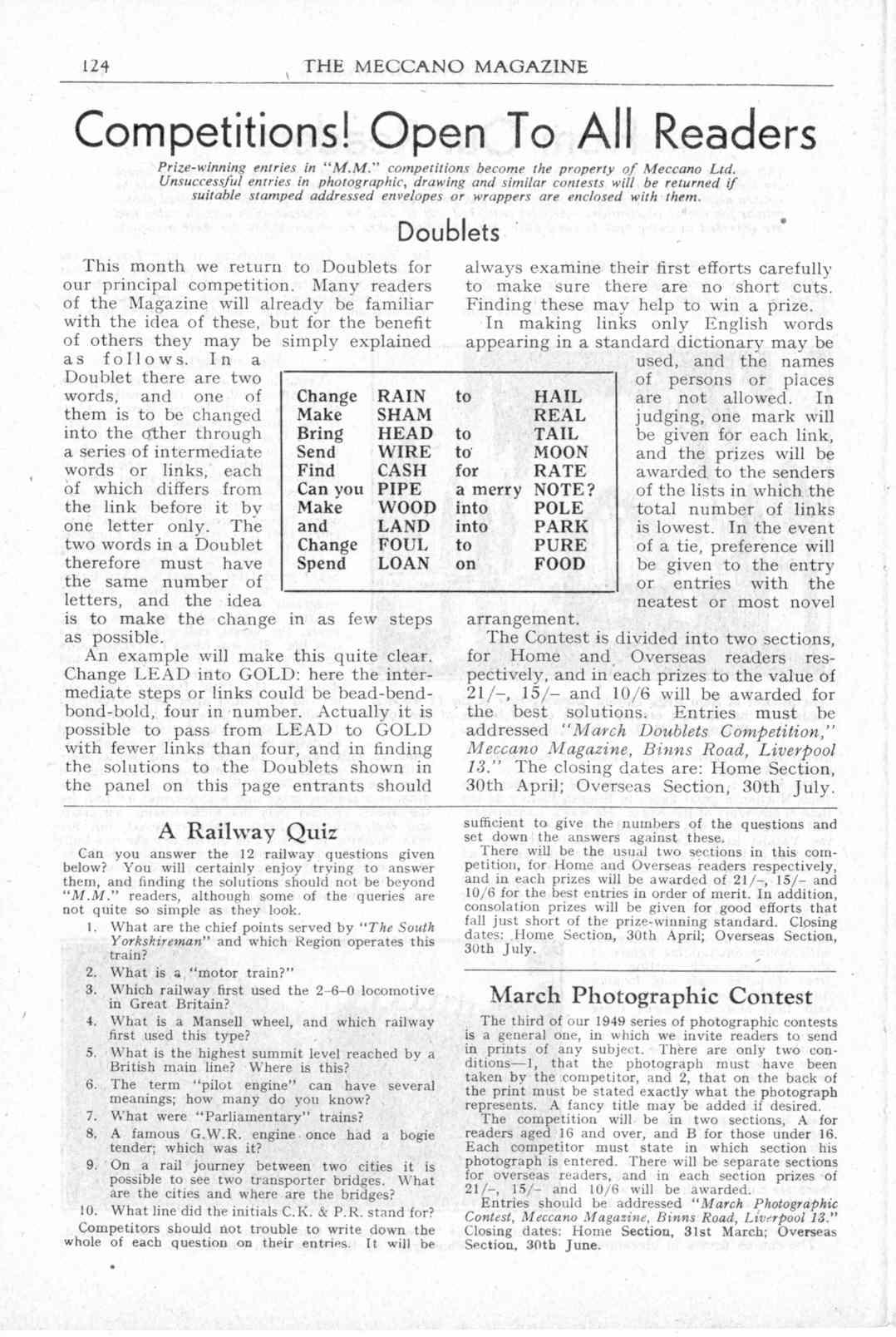UK Meccano Magazine March 1949 Page 124