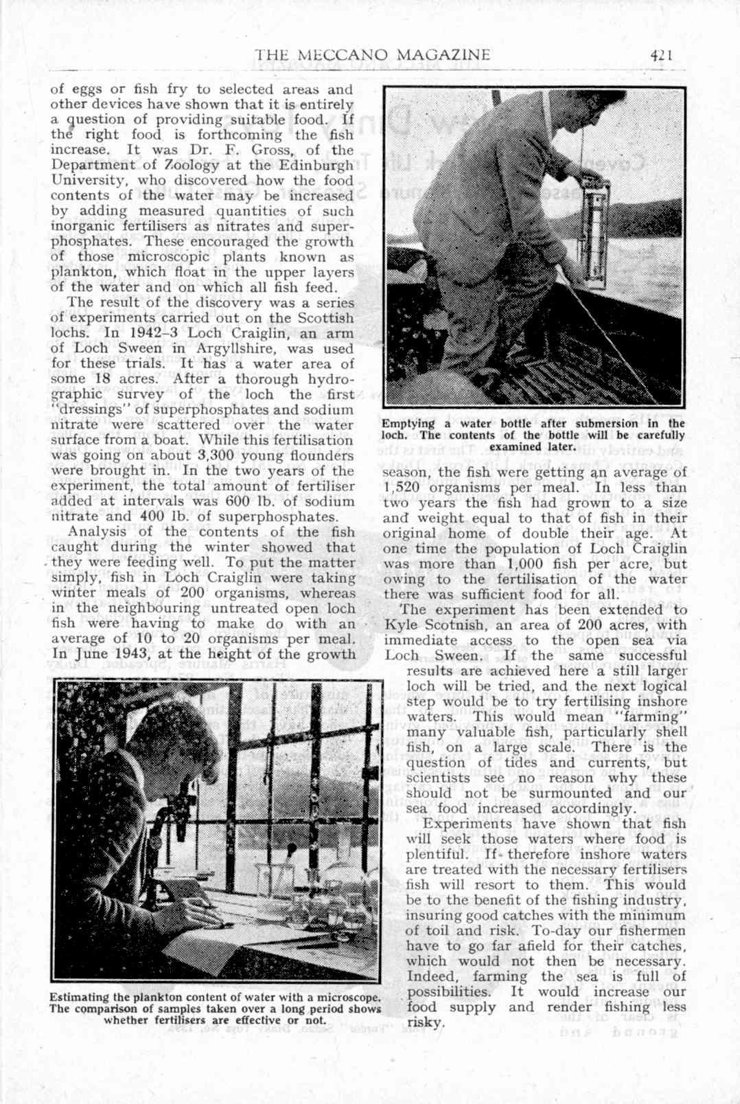 UK Meccano Magazine November 1949 Page 421