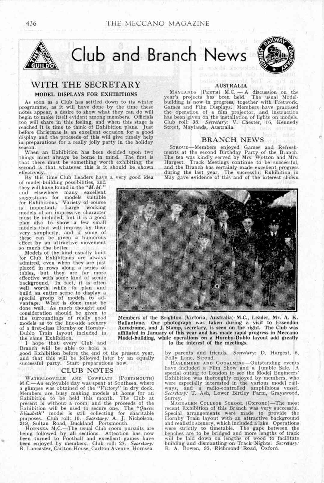 UK Meccano Magazine November 1949 Page 436