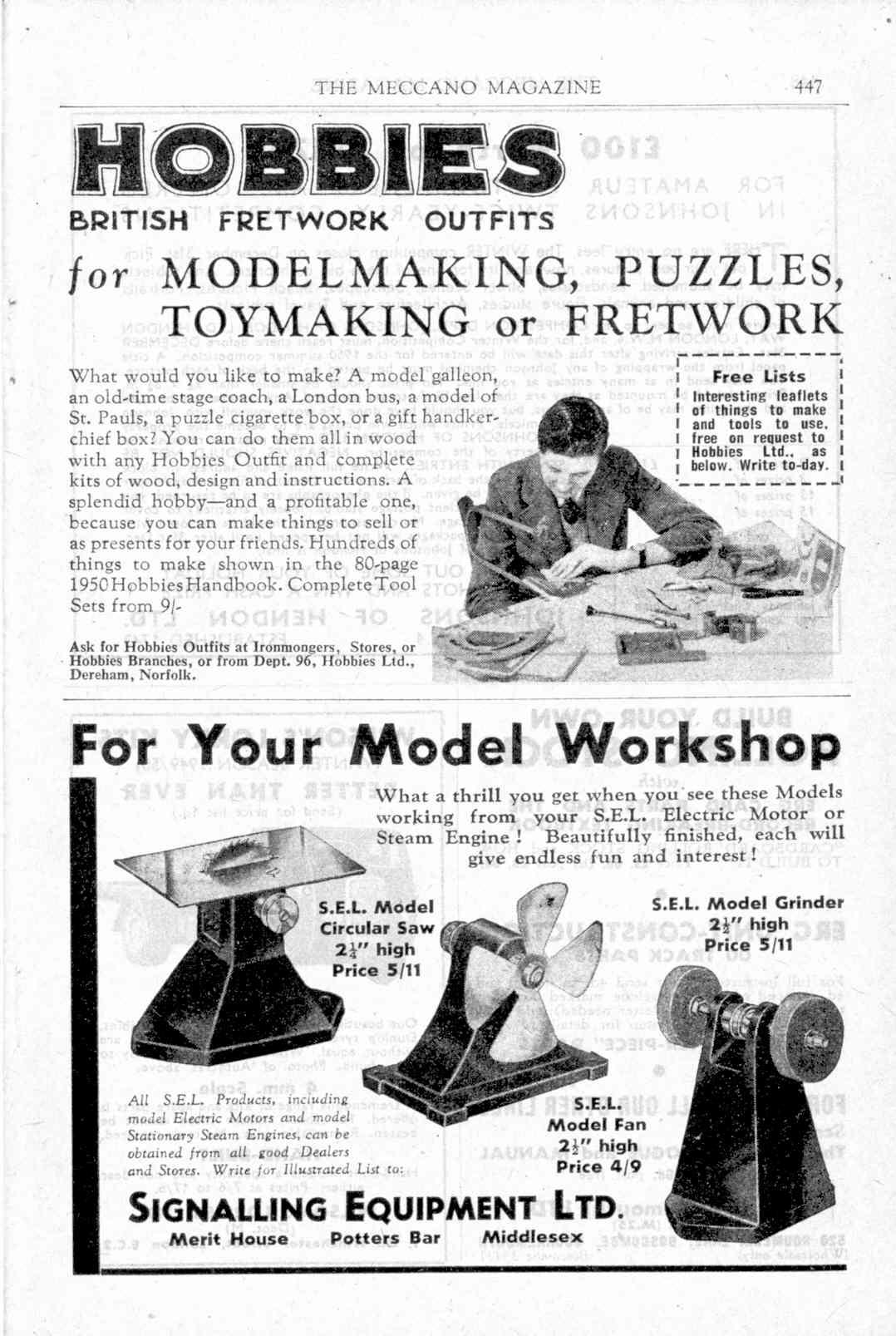 UK Meccano Magazine November 1949 Page 447