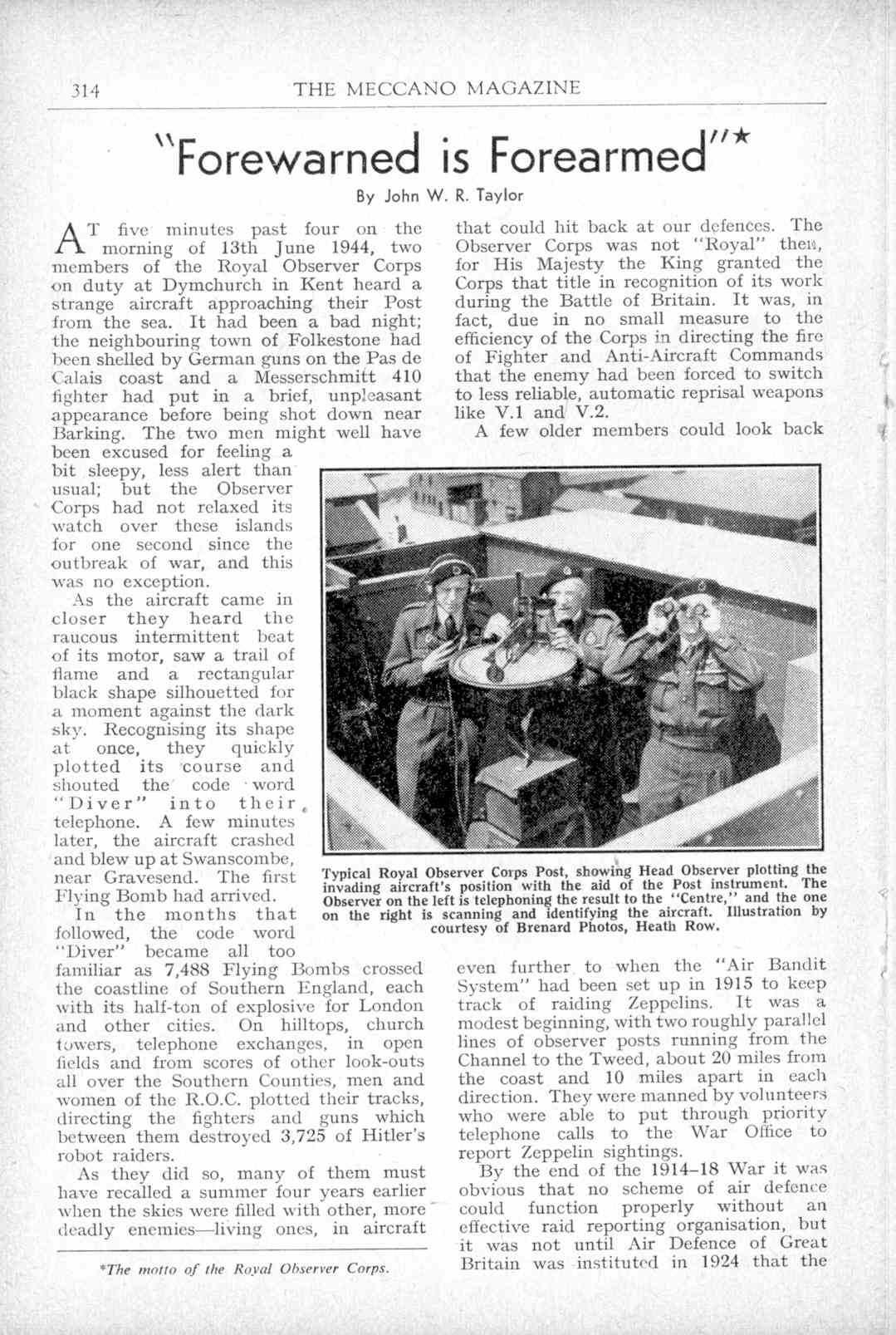 UK Meccano Magazine July 1951 Page 314