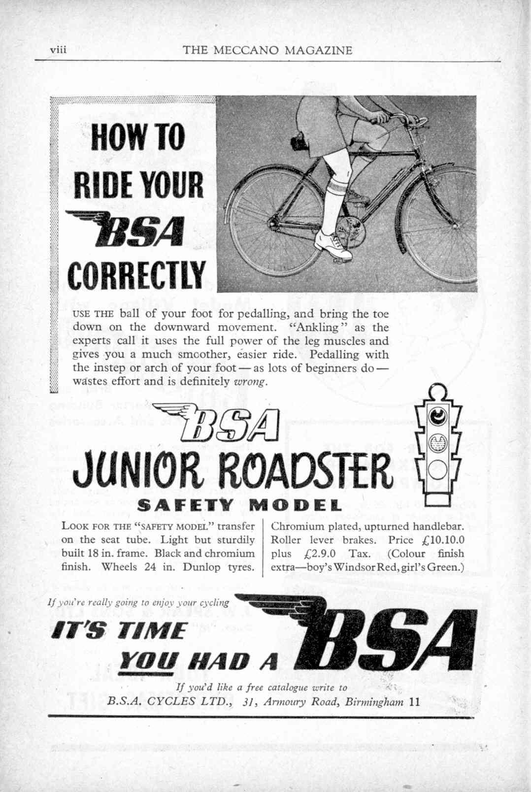 UK Meccano Magazine November 1951 Page viii