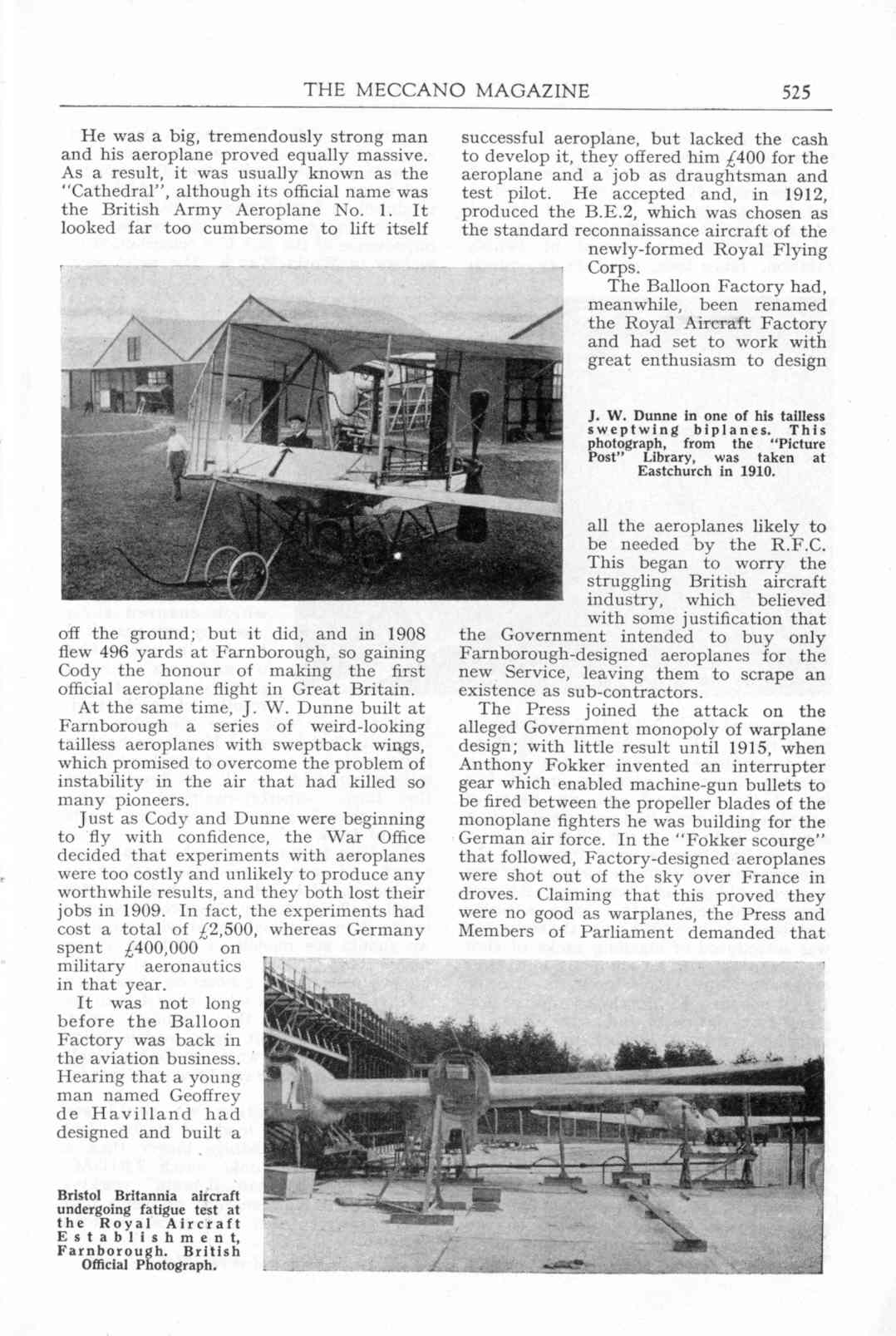 UK Meccano Magazine October 1955 Page 525