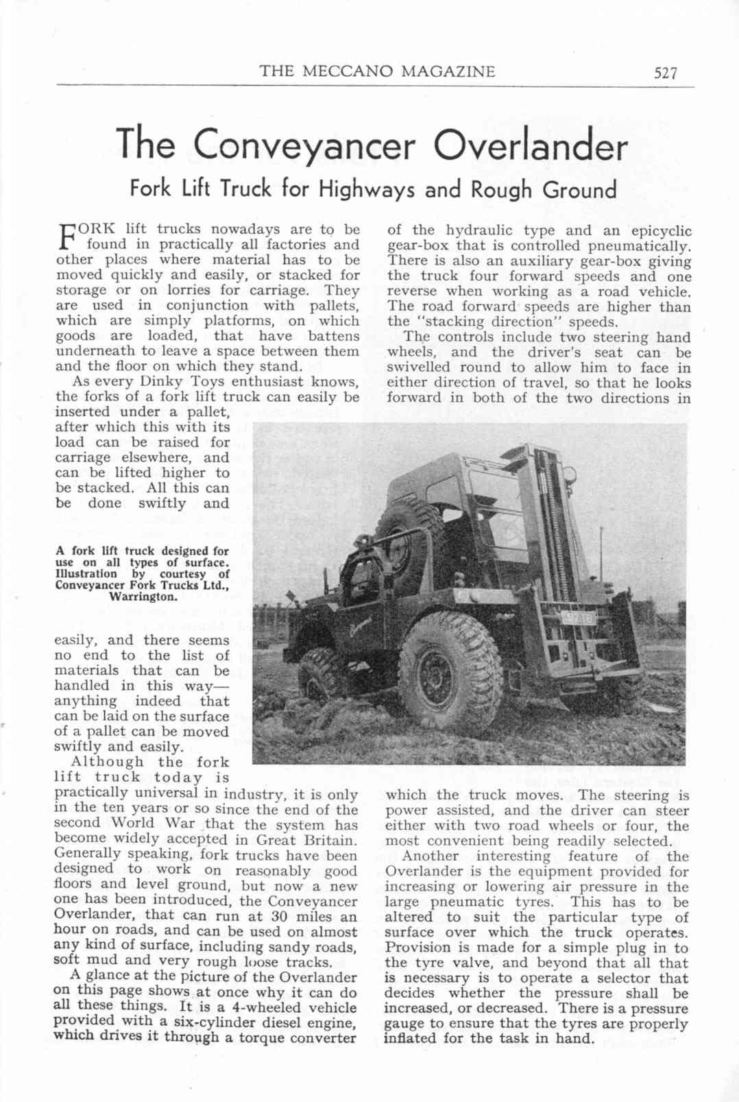 UK Meccano Magazine October 1955 Page 527