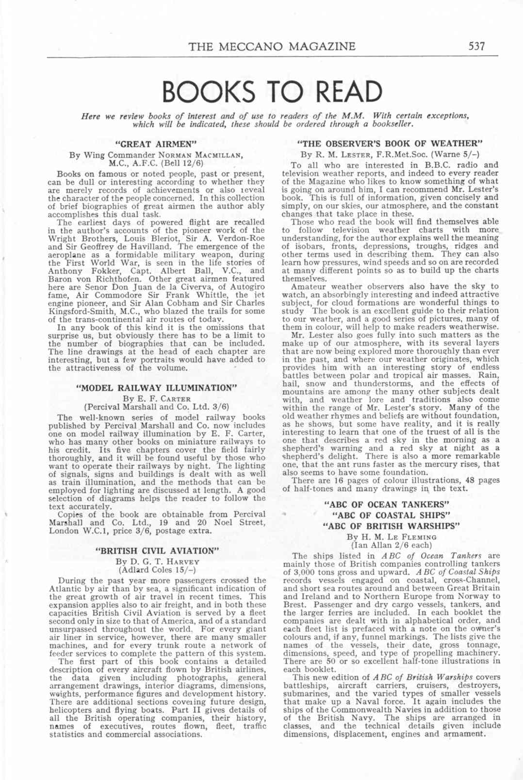 UK Meccano Magazine October 1955 Page 537