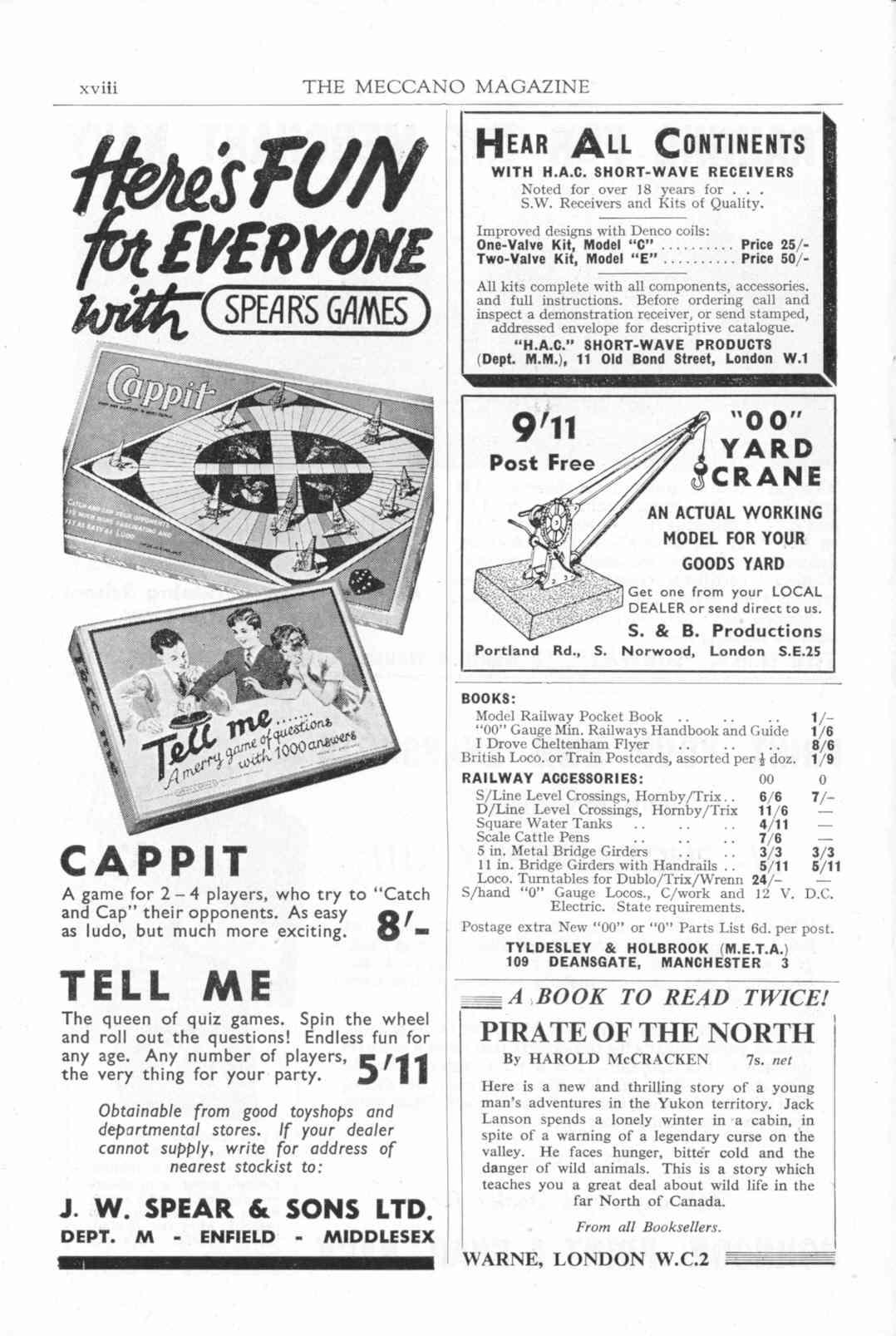UK Meccano Magazine October 1955 Page xviii