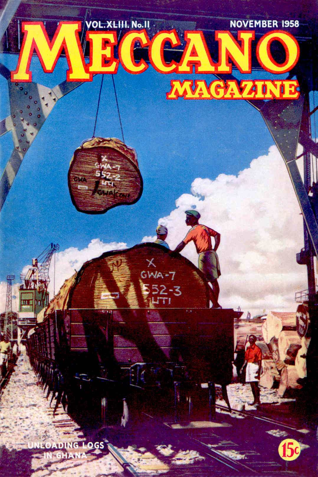 UK Meccano Magazine November 1958 Front cover