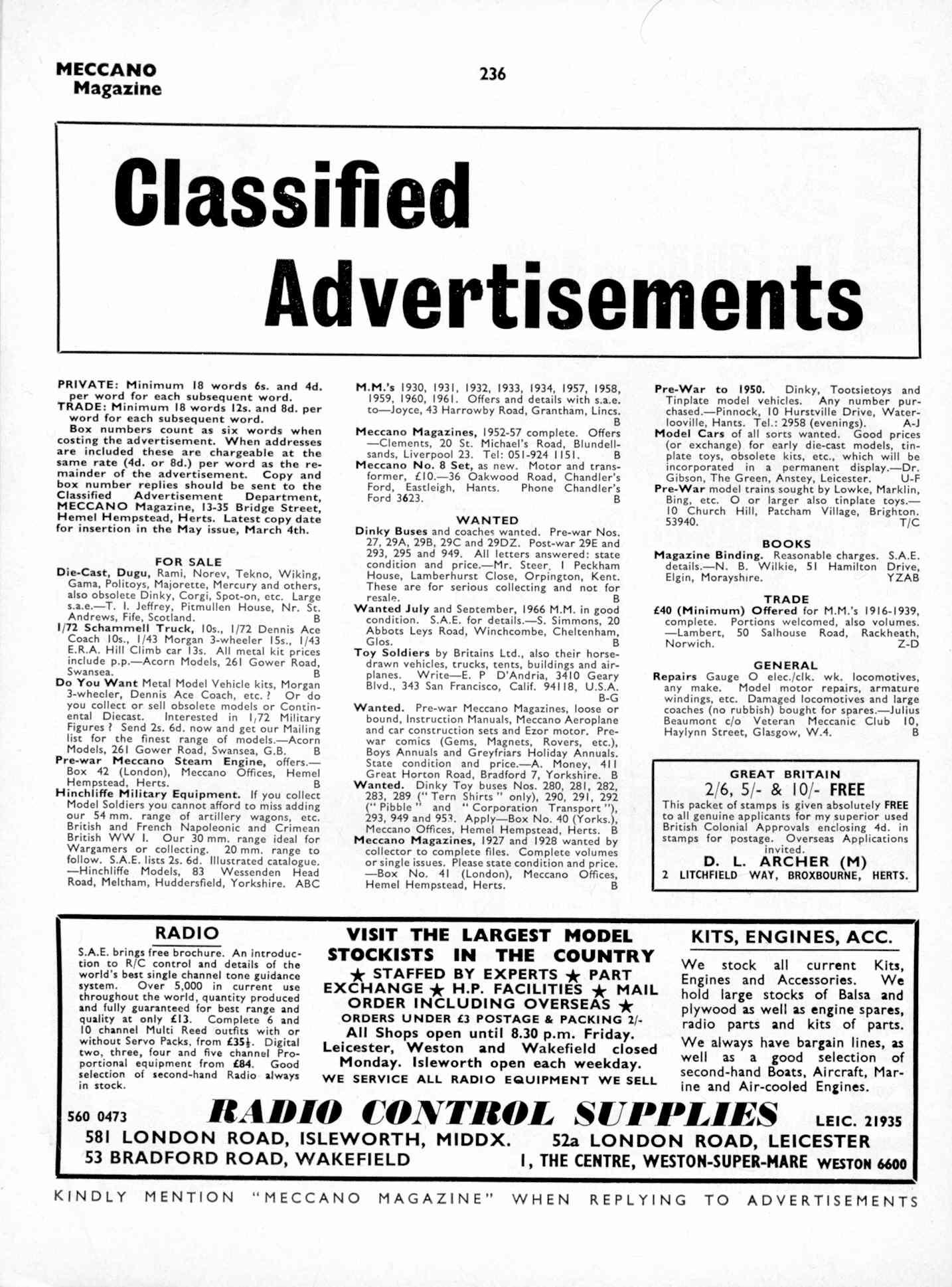 UK Meccano Magazine April 1970 Page 236