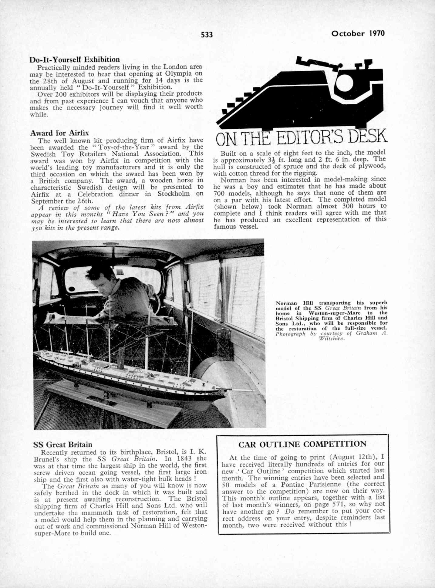 UK Meccano Magazine October 1970 Page 533