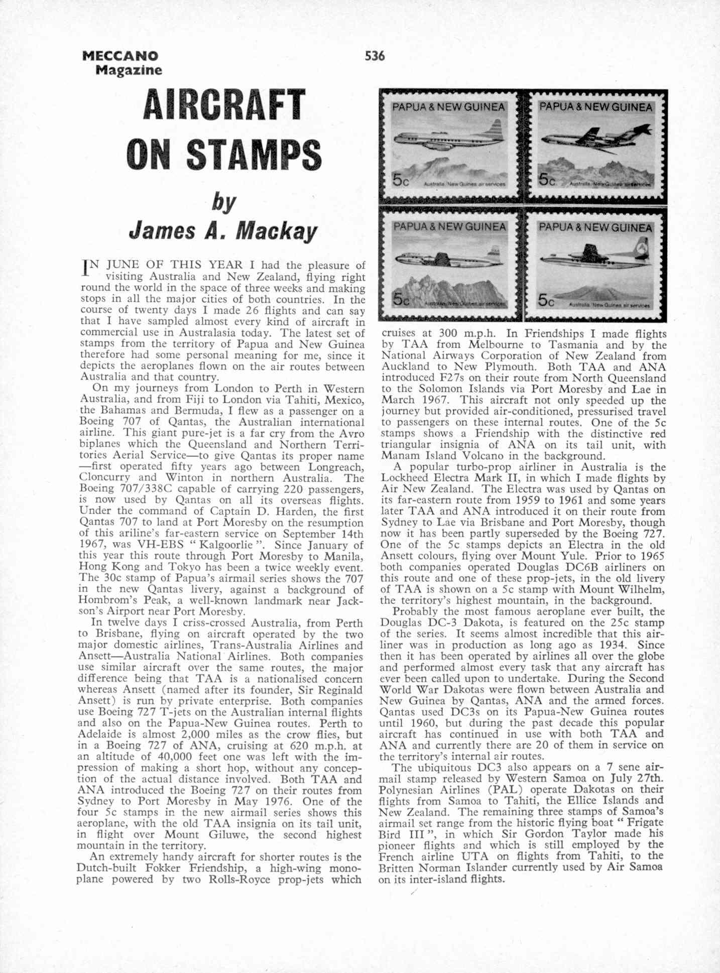 UK Meccano Magazine October 1970 Page 536
