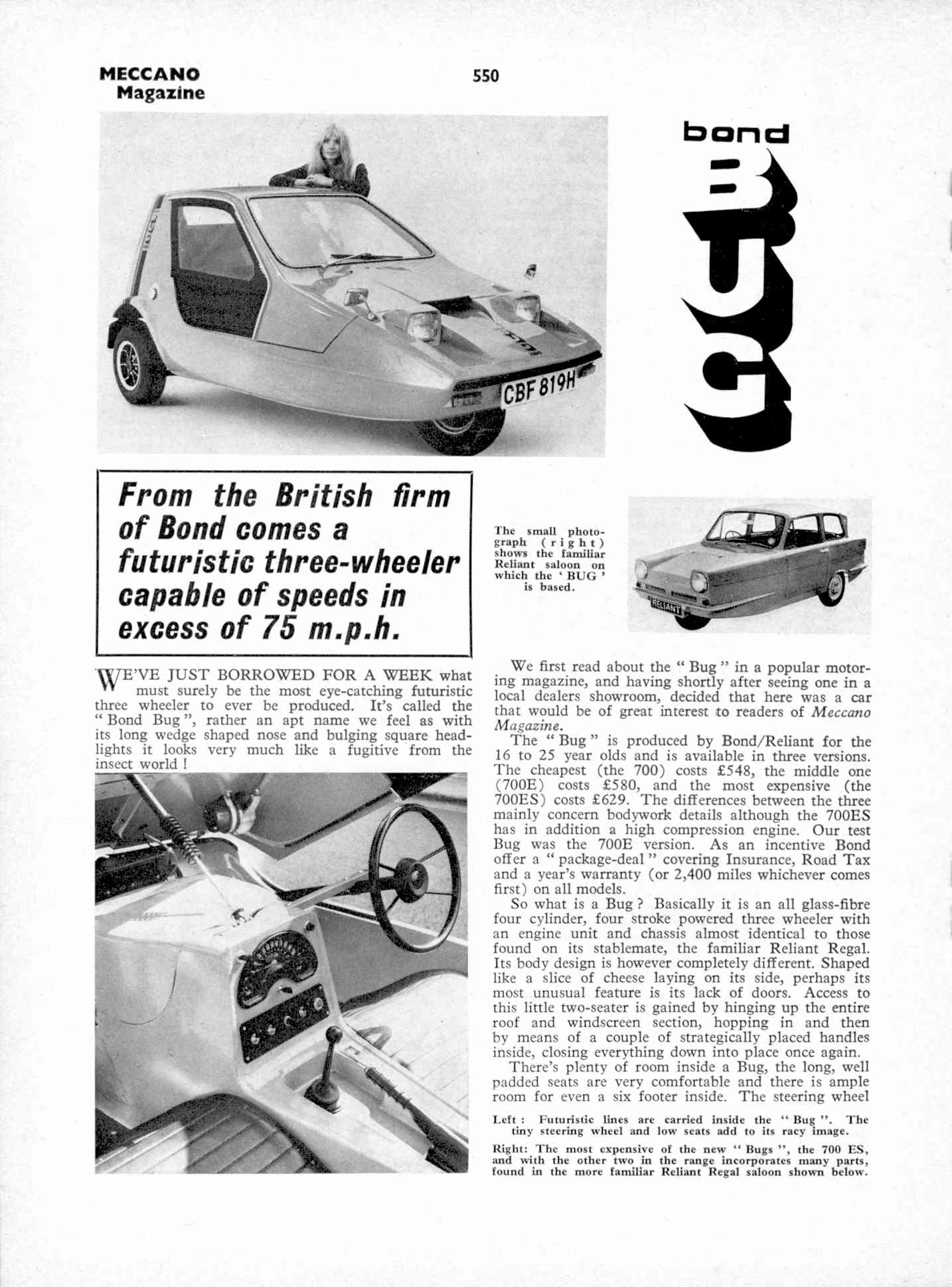 UK Meccano Magazine October 1970 Page 550