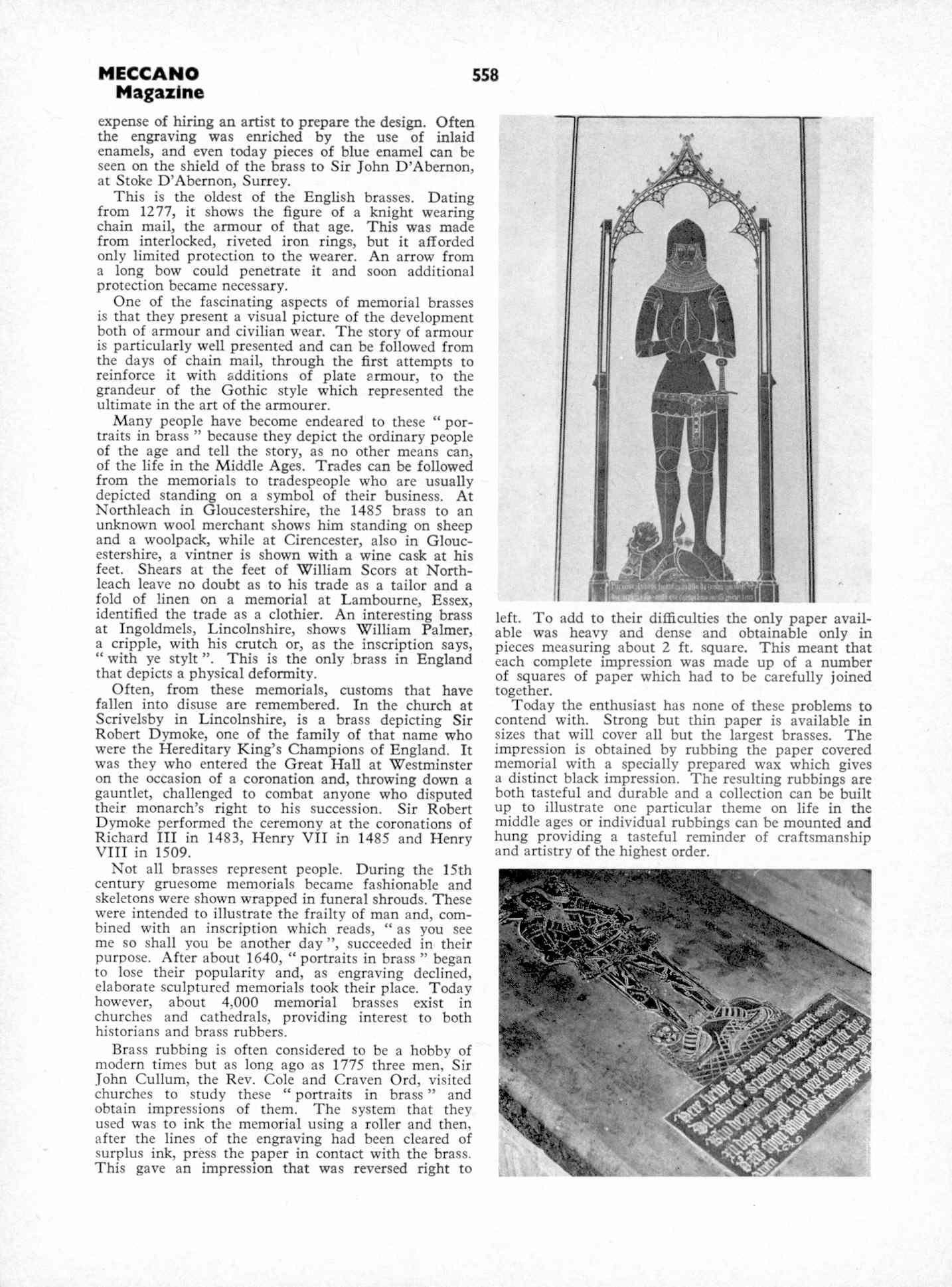 UK Meccano Magazine October 1970 Page 558
