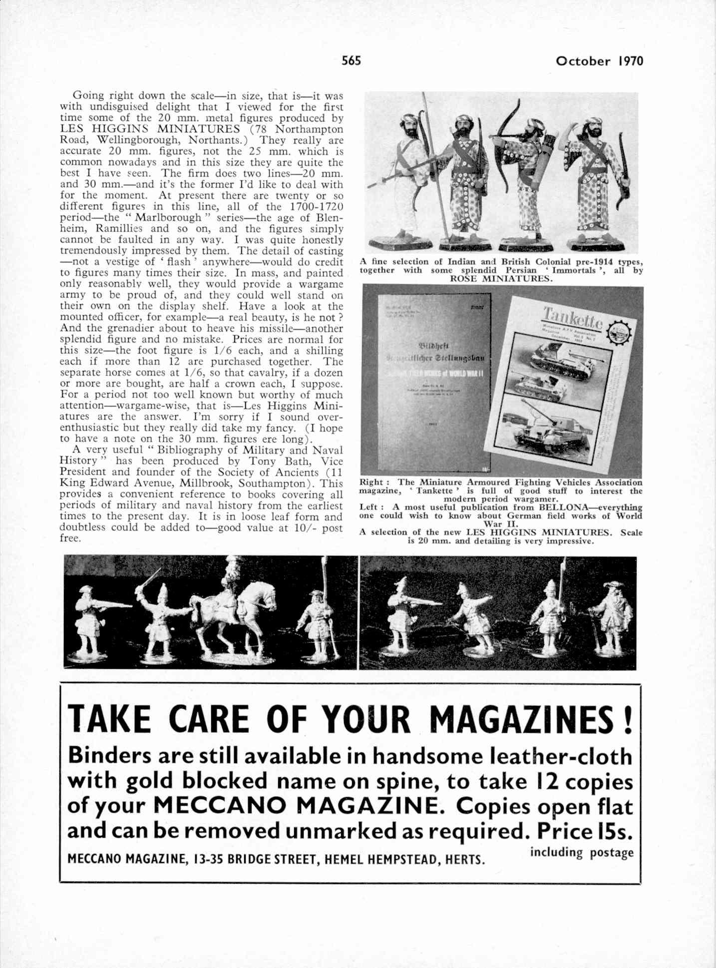 UK Meccano Magazine October 1970 Page 565