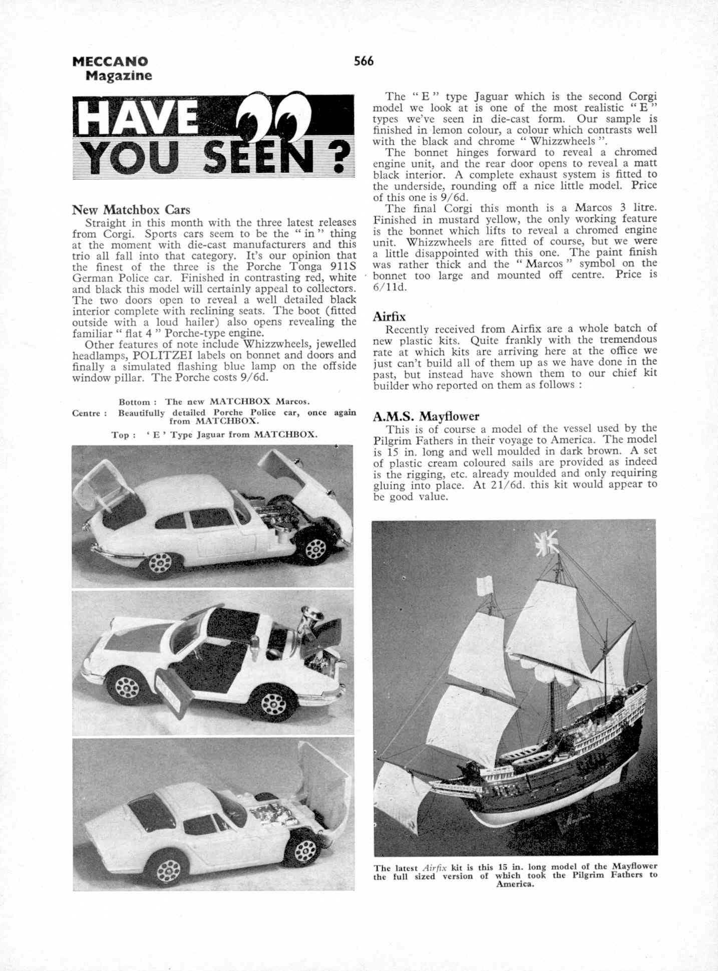 UK Meccano Magazine October 1970 Page 566