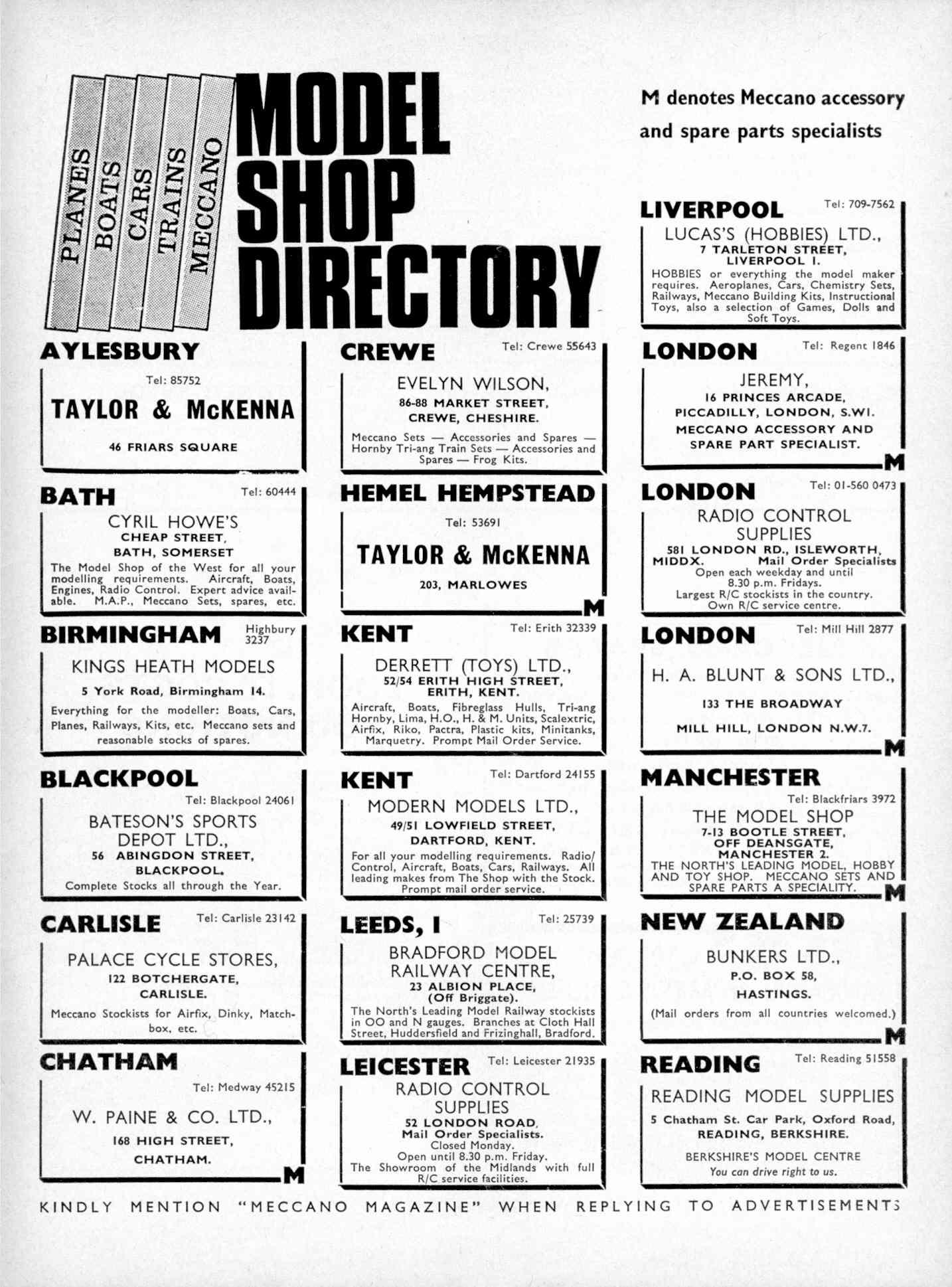 UK Meccano Magazine October 1970 Page 573